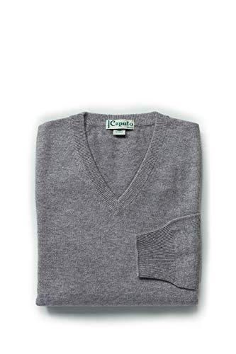 Caputo pure cachemire maglione uomo scollo a v in pregiato cashmere 100%