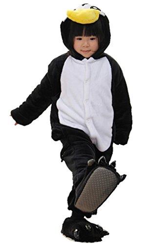Nicetage Karneval Kostüm Kinder Cosplay Onesie Jumpsuits Anime Kostüm Pyjama Overall Schlafanzug Hausanzug Pinguin 115