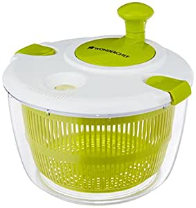 Wonderchef Plastic Vegetable Cleaner with Salad Spinner, 5 Litres/25cm, Green/White