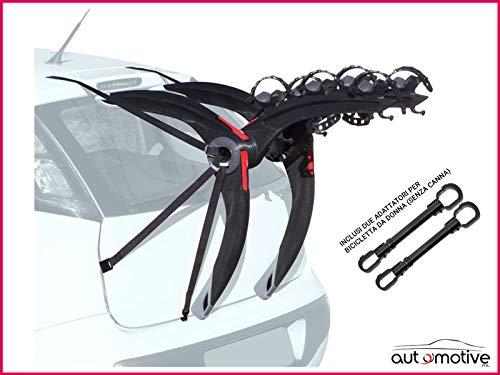 Proposteonline Portabici Posteriore 3 Bici Omologato Compatibile con BMW X1 5 Porte dal 2009 al 2014 Inclusi Due Adattatori per Bicicletta da Donna Senza Canna 007538