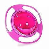 censhaorme Universal tazón de Fuente Gyro Bowl, Anti derrame de Smooth 360 Grados de rotación giroscópica tazón para Bebés y Niños