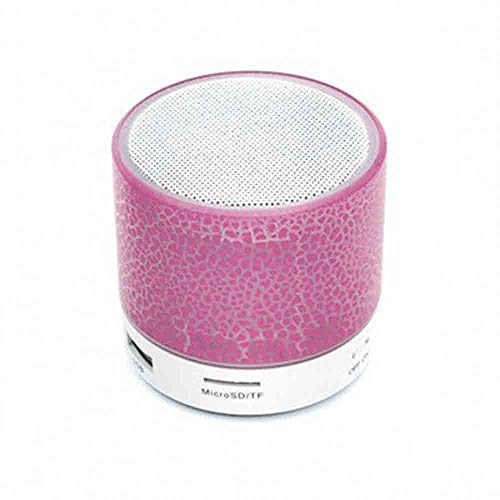 Bluetooth-Lautsprecher - Mini Crack mit Subwoofer-Plug-in-Bluetooth-Lautsprecher (Farbe : Rosa) -