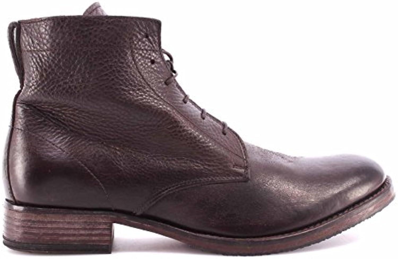 Zapatos Hombre Botas MOMA 57602Y2 Yak Ebony Leather Vintage Cuero Made Italy New