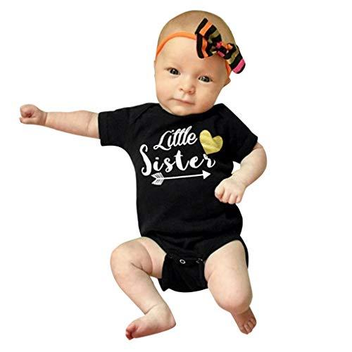 QinMM Body para 0-18M Bebé recién niños niñas Carta corazón...