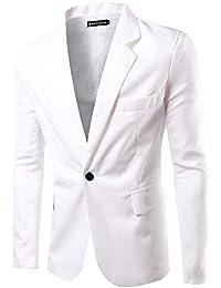Hombres Slim Fit Casual Un Botón Negocios con Estilo Traje Abrigo Chaquetas Blazers