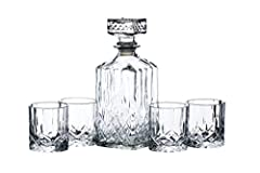 Idea Regalo - BAR CRAFT Set Decanter e Bicchieri da Whisky in Vetro, 26 x 10 x 24 cm