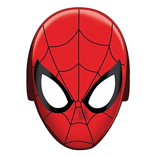 NEU Maske Spiderman aus Pappe, 8 Stück (Spider Man Masken)