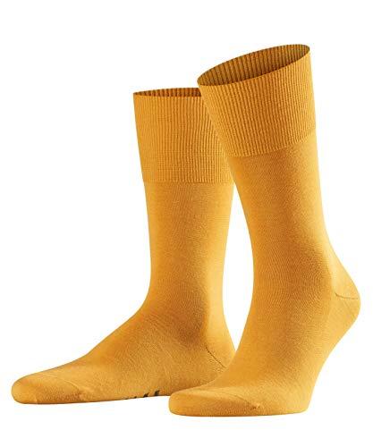 FALKE Herren Socken / Herrensocken Airport - 1 Paar, Gr. 43-44, gelb, Merinowolle Baumwolle, atmungsaktiv, Business Strümpfe