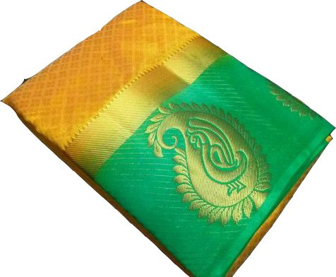 C J Enterprise Women's Cotton Silk Sarees With Blouse Piece. (Banarasi Silk...