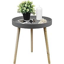 Design Couchtisch Beistelltisch 50x60cm Mit Praktischer Umrandung Wohnzimmertisch Kaffeetisch Aus Holz