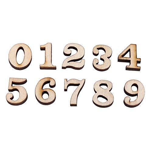 200Stück gemischt Holz A-Z Buchstaben/0–9Zahlen unpaint DIY decoations Kinder Early Learning Spielzeug Zahlen