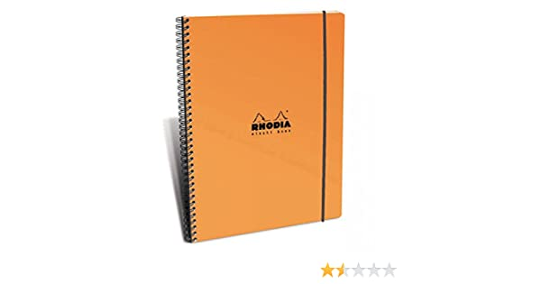 Rhodia Wirebound Orange Elasti Book 9 X 11 /¾