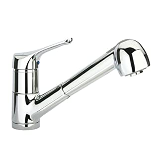 Alfi Trade WH76564-BN 9 in. Metrohaus single hole-single lever handle faucet with pull-out spray- Brushed Nickel-PVD