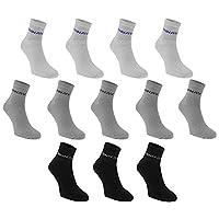 Donnay Kids Children Junior Quarter Socks 12 Pack Casual Everyday Wear Multi Mens 7-11