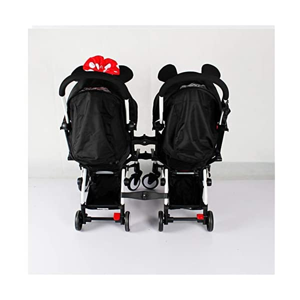 Twins Baby Stroller Connectors Accessories for YOYO Strollers 2-in-1 Dual Stroller Same Stroller  Material:PP Color:Black Weight:600g 5