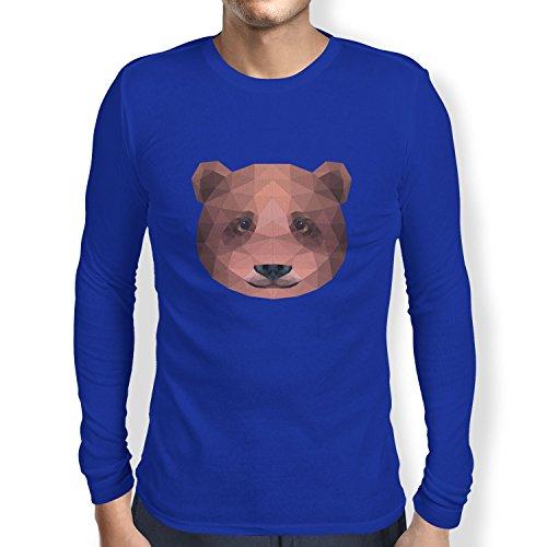 TEXLAB - Polygon Bearface - Herren Langarm T-Shirt Marine