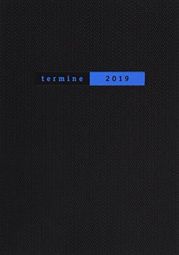 Terminer A5, Struktur schwarz - Kalender 2019