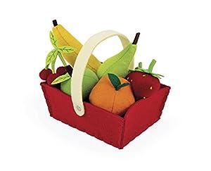 Janod - Cesta de 8 Frutas de tela (J06577)