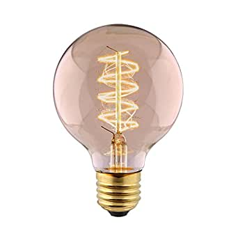 amzdeal edison ampoule de tungst ne e27 filament vintage g80 40w lampe incandescence classique. Black Bedroom Furniture Sets. Home Design Ideas