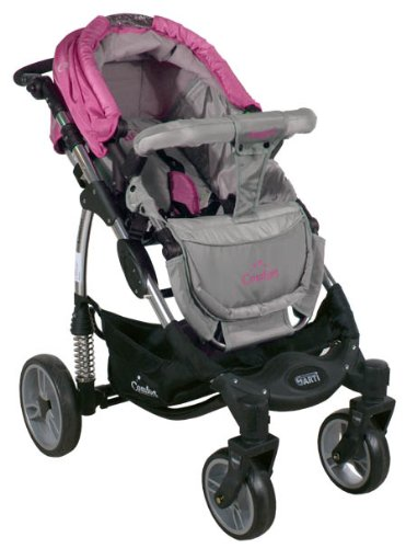 2in1 Travel Set ARTI Comfort B503 2w1 Pink/Gray Babypram and Pushchair/ Baby Stroller   4