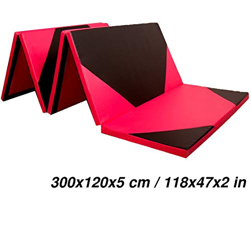 CCLIFE 300x120x5cm Weichbodenmatte Turnmatte Klappbar Gymnastikmatte Farbeauswahl