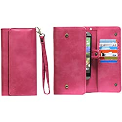 J Cover A13 I Nillofer Leather Wallet Universal Phone Pouch Cover Case For Nokia 3 Pink