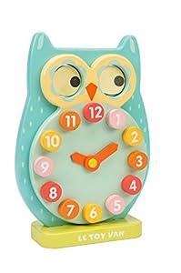 Le Toy Van Petilou - Reloj de Madera con diseño de búho Parpadeante