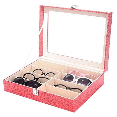 XZGG Sonnenbrillen Aufbewahrung Organizer Kasten Brillenbox Mit Schaufenster Aus Glas Frauen Männer Sunglass Organizer Sammlung Schmuck-Box