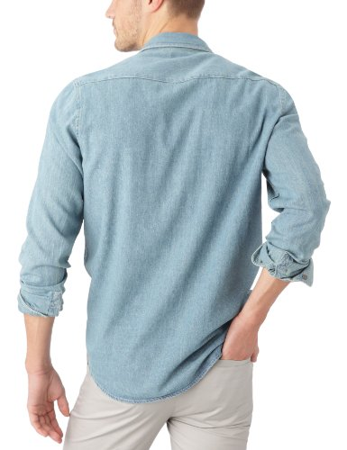 Cheap Monday - Chemise en jeans - Coupe Droite - Homme Washed Blue