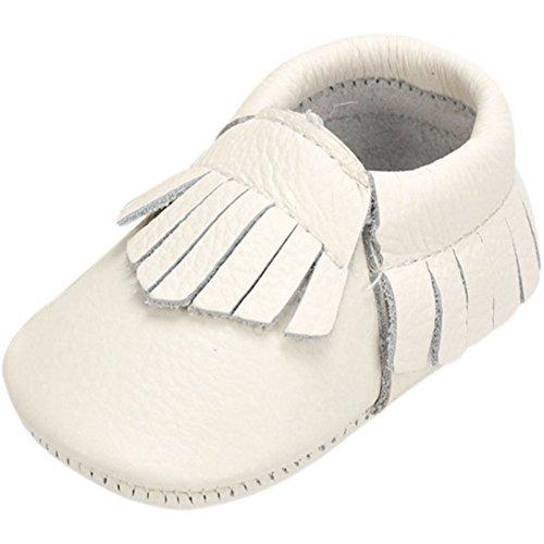 Fire Frog  Baby Genuine Leather Shoes, Baby Mädchen Lauflernschuhe Weiß