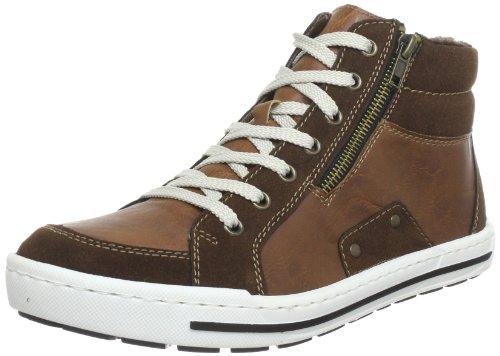 (Rieker 38034, Herren Hohe Sneakers, Braun (cigar/nut/25), 42 EU (8 Herren UK))