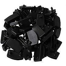 RDEXP - 50 Soportes de plástico para Lamas de Cama, Color Negro