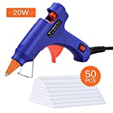 Hot Glue Gun, TOPELEK Heats Up Quickly 20W Mini Heating Hot Melt Glue Gun with Sticks(50pcs 100mm), ON-Off Switch for DIY Arts, Hobby, Craft, Home Repairs, Fabric,Wood, Glass, Card, Plastic