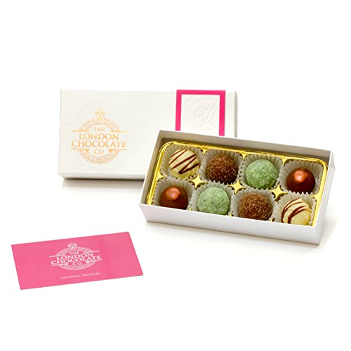 The London Chocolate Company - Cocktail Collection Chocolate Truffles Gift Box, 110g