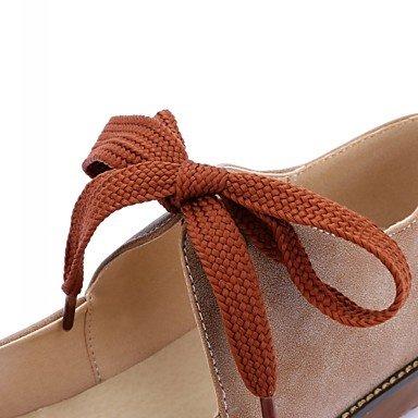 Confortevole ed elegante piatto scarpe donna Appartamenti Primavera Estate Autunno Inverno Comfort Novità similpelle outdoor Abbigliamento Sportivo tacco piatto Lace-up grigio Kaki Coral Altri gray