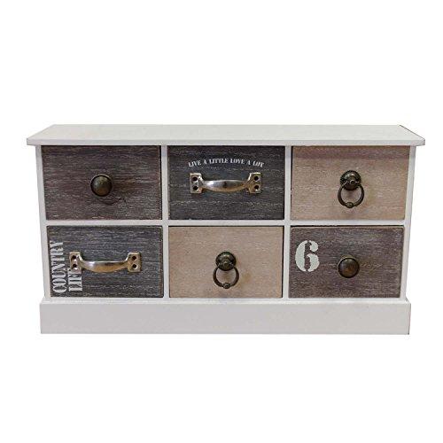 Armario-con-6-cajones-215-x-40-x-11-cm-madera-armario-Vintage-Deko-Armario-cmoda-cajonera-bao-armario-armario-de-bao-de-piso-armario-joyero-armario-pequeo-Aparador