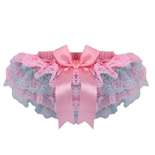 MORESAVE Mädchen Bowknot Satin Rüsche Spitze pp Shorts Windeln Bloomers Röcke 0-3Y (Spitze Bloomers)