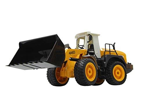 RC Auto kaufen Baufahrzeug Bild 5: Jamara 410005 - Radlader 440 1:20 2,4G - Schaufel heben / senken / abkippen, realistischer Motorsound (abschaltbar), programmierbare Funktionen, Blinker, Autoabschaltfunktion, 2 Radantrieb*