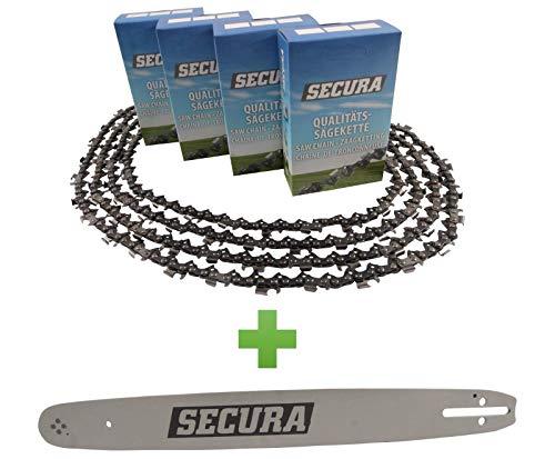 4 Sägeketten + Schwert passend Expert Performance 1403-002 - 40cm 3/8LP' 57TG 1,3mm