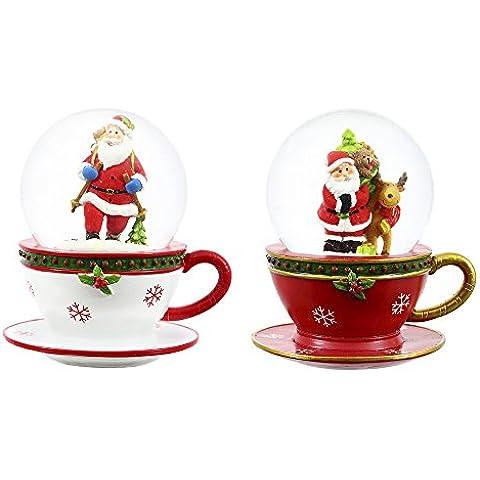 Diferentes tipos de piedra y 100 mm velas de té de cristal botella con boquilla y tapa color nieve, juego de 2