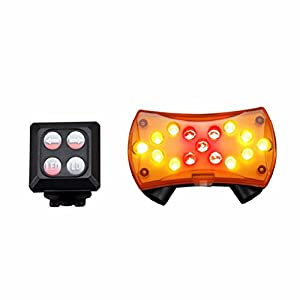 Sisit: faro intermitente inalámbrico para bicicleta (luz trasera de seguridad), 1 Set(controler + back light)