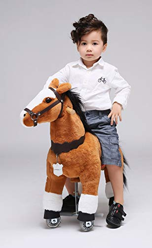 UFREE Horse Best Birthday Gift for Girls. Action Pony Toy, Ride on Large 29'' for Children 3 Years Old to 6 years old, Amazing Birthday Surprise.(unicorn with white forehead)