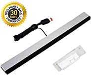 Porro Fino Wii Sensor Bar, Wired Infrared IR Ray Motion Sensor Bar Compatible with Nintendo Wii/Wii U Console