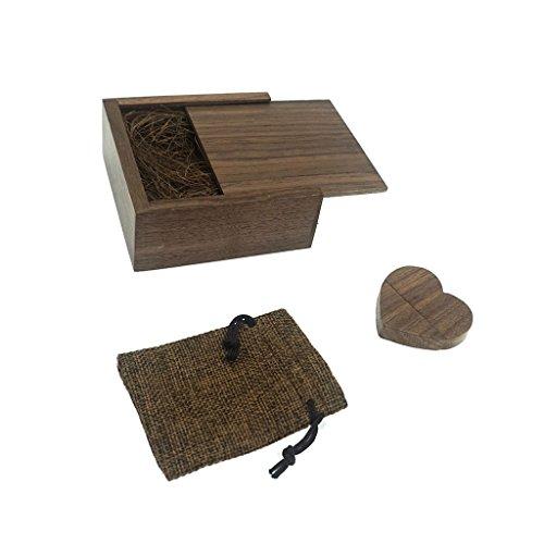 Chiavetta usb 16gb luckcrazy usb flash drive cuore di legno memoria flash disk con scatola di imballaggio