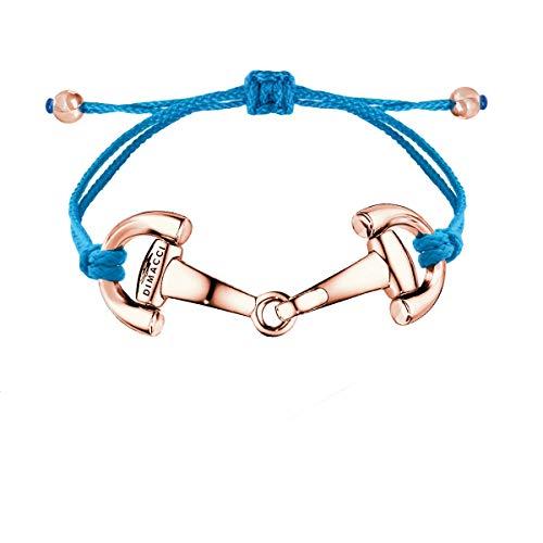 DIMACCI Nylon-Trensen-Armband | PONY (Blau, Edelstahl rose-vergoldet)