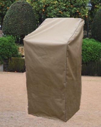 Deluxe Polyestere Copri Telo di copertura per sedie impilabili da esterno giardino - 64x64cm marrone