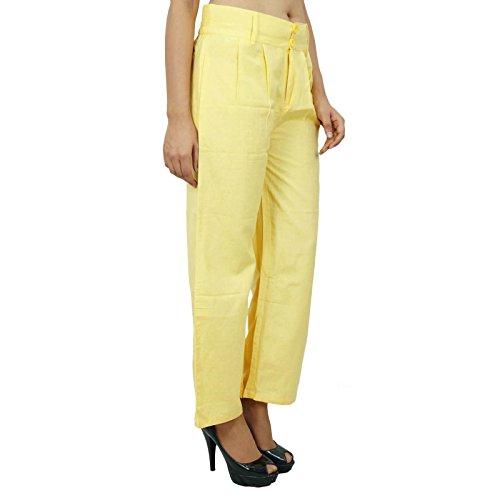 Yoga Pants Boho Hippie Casual Harem Harem femmes des pantalons indiens Jaune