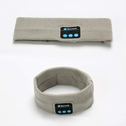 Stirnbänder Portable Fashion Wireless Bluetooth Sport Stirnband mit Mikrofon (Color : Hoary) (Mikrofon Mit Wireless-stirnband)