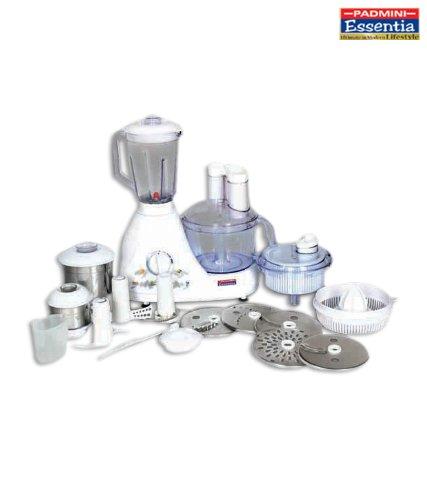 Padmini Megapro 600-Watt Food Processor (White)