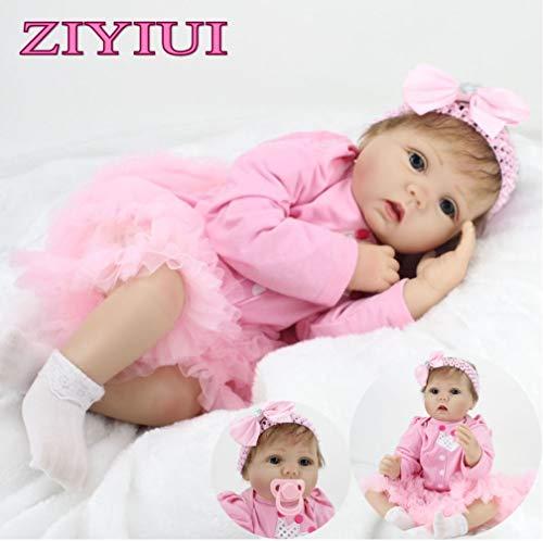 ZIYIUI 22 inch 55 cm Reborn Babypuppe Mädchen Lebensechte Newborn Soft Silikon Lifelike Spielzeug Puppe Realistische Kind Geburtstagsgeschenk